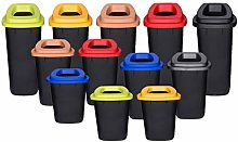 Chabrias Ltd 90 Litre Recycling Waste Bin With