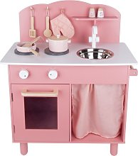 Chad Valley Country Wooden Kitchen - Pink