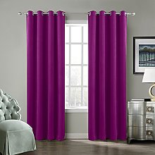 ChadMade Blackout Lined Premium Velvet Curtain