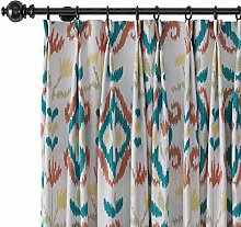 ChadMade Print Faux Linen Curtain with Blackout