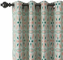 ChadMade Printed Faux Linen Curtain with Blackout