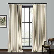 "ChadMade Solid Matt Heavy Velvet Curtain 55"" W"