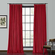 "ChadMade Solid Matt Heavy Velvet Curtain 90"" W"