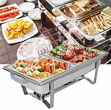 Chafing Dishes Set, 9L Rectangular Chafing