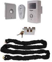Chain & Lock with Battery Powered PIR Alarm (Shed