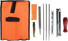 Chainsaw Sharpening Kit, 10Pcs Chainsaw Sharpener