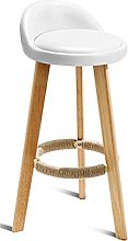 Chair Bar Stools -2pcs Household Solid Wood Chair