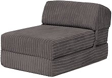 Chair Bed Symple Stuff Upholstery: Charcoal