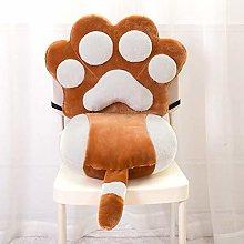 Chair Cushion, Cat Paw Shape Lazy Sofa Office Seat