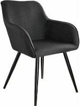 Chair Marylin | Office accent armchair - black