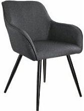 Chair Marylin | Office accent armchair - dark