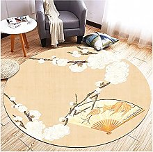 Chair Mats For Wooden Floors, Washable Round Rug,