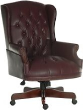 Chairman Swivel Chair Burgundy, Burgundy