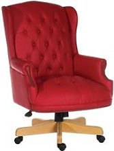 Chairman Swivel Chair Red, Red