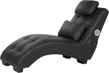 Chaise Lounge Faux Leather with Bluetooth Speaker