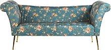 Chaise Lounge Floral Pattern Blue NANTILLY