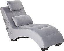 Chaise Lounge Velvet with Bluetooth Speaker USB