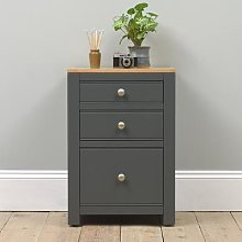 Chalford Dark Grey 3 Drawer Filing Cabinet