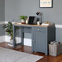 Chalford Dark Grey Single Pedestal Desk