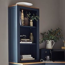 Chalford Inky Blue Desk Top Bookcase