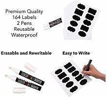 Chalkboard Labels - 164 Reusable Jar Labels –