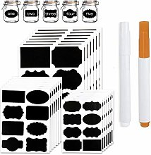 Chalkboard Labels 168 Pcs - 2 Free Erasable Chalk