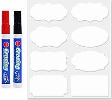 Chalkboard Labels Bulk (80PCS White Colour) - Mini