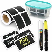 Chalkboard Labels with A Box and 2 PENS- 198pcs