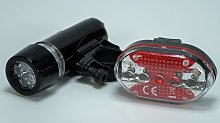 Challenge 2 Piece Silicone Front And Rear LED Bike
