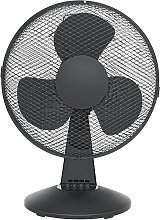 Challenge Black Oscillating Desk Fan - 12 Inch