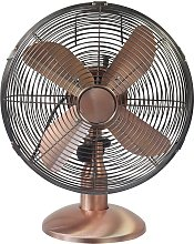 Challenge Copper Oscillating Desk Fan - 12 Inch
