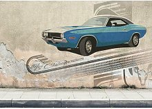 Challenger Print Poster in Beige/Blue East Urban