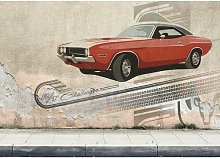 Challenger Print Poster in Beige/Red East Urban