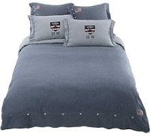 Chambray Cotton Bedding Set in Blue 220x240 single