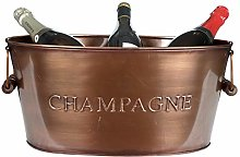 Champagne Cooler Ice Bucket Copper Finish Wine