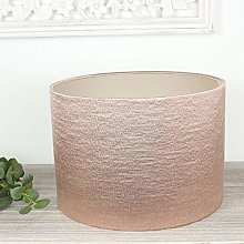 Champagne Lined Blush Pink Alchemy Drum Lampshade