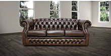 Champine Oxley Genuine Leather 3 Seater