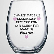 Chance Made Us Colleagues Crystal Stemless Wine