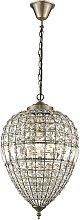 Chandelier 1 Light Antique Brass Finish, E27 -