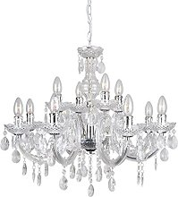 Chandelier 12 Light Chrome Marie Therese Ceiling
