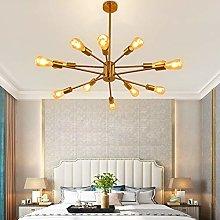 Chandelier 12 Lights Contemporary Gold Sputnik