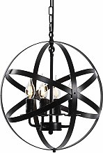 "Chandelier 15.7"" Farmhouse Rustic Industrial"