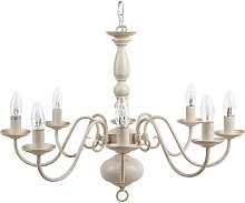 Chandelier 8 Light Candle Bulbs Vintage Style Off