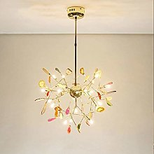 Chandelier Creative Colorful Agate Stone Branches