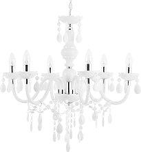 Chandelier Crystal Droplets 6 Light Bulbs Living