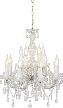 Chandelier glass crystal with C-arm 12 lights -
