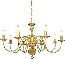 Chandelier Golden 8 x E14 Bulbs - Gold