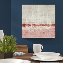 Chandelier Graphic Art Wrapped on Canvas East