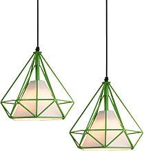 Chandelier , Industrial Pendant Light 25CM Green,