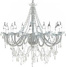 Chandelier with 1600 Crystals - White
